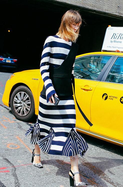 时装周街拍 在纽约你必须学会凹造型