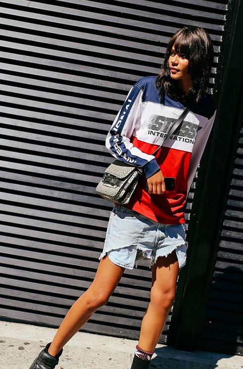 纽约时装周貌美的都上街凹造型了