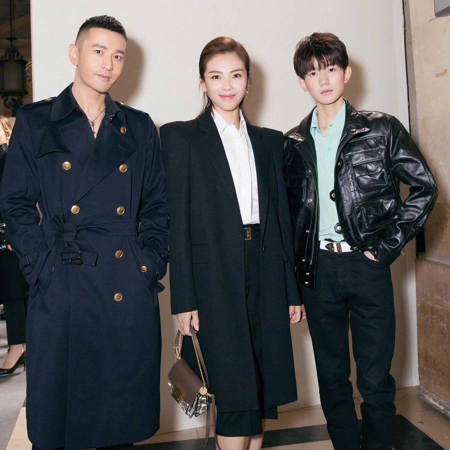 刘涛、黄晓明、王源靠这接头暗号在Givenchy秀场相遇了!