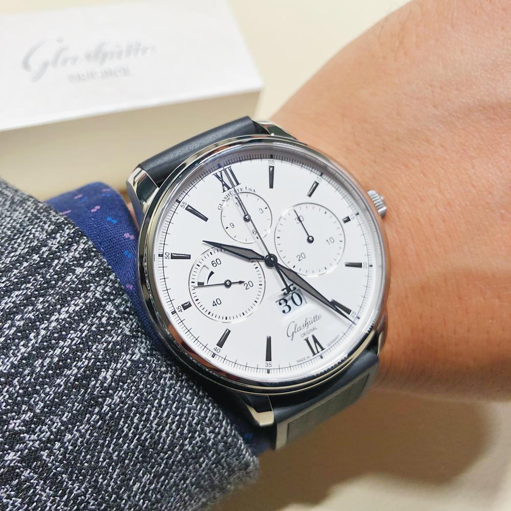 格拉苏蒂原创议员大日历腕表