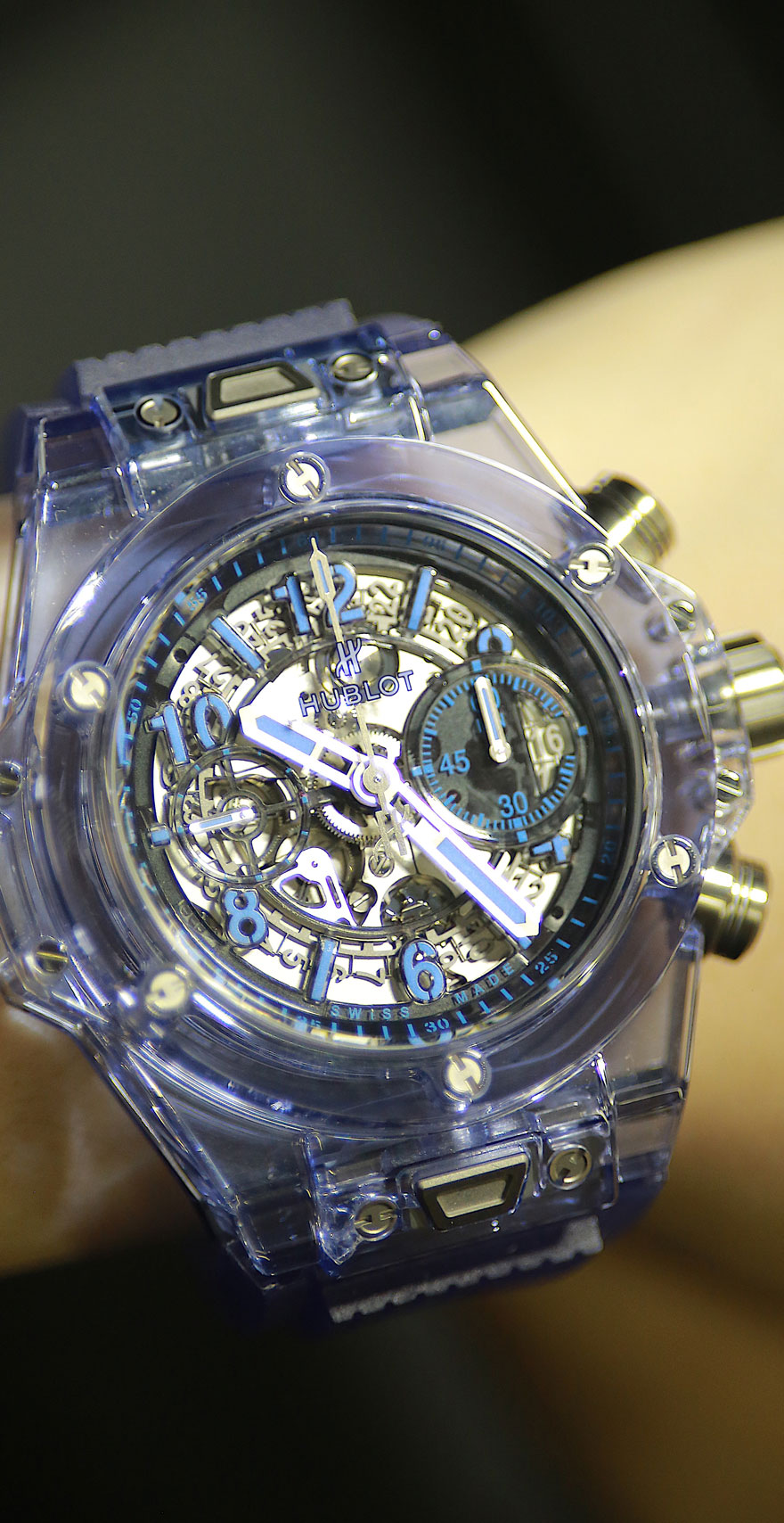 宇舶全新Big Bang Unico蓝宝石腕表