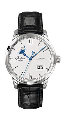 格拉苏蒂原创议员卓越大日历月相腕表