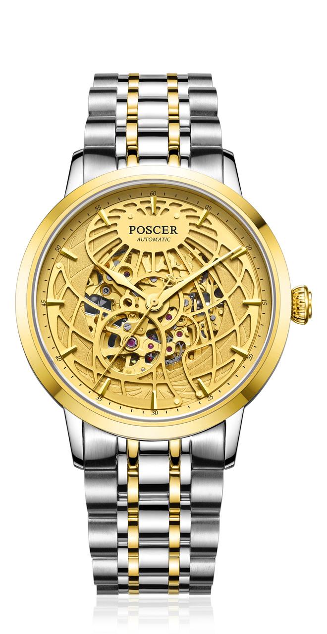 宝时捷表日月星辰系列常规款腕表(镂空地球表盘)
