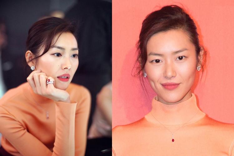 刘雯于CHAUMET珠宝的陪伴下出席Vogue十一周年派